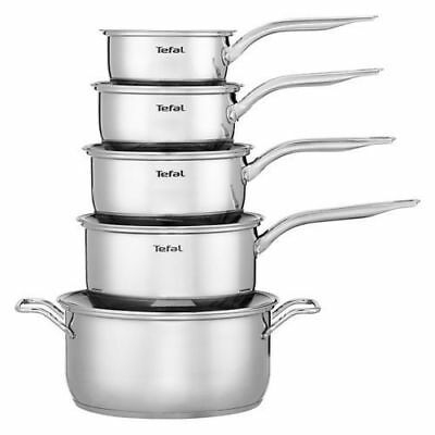 Tefal Intuition 5 Piece Induction Saucepan Set 16/18/20cm, Stockpot & Milkpan