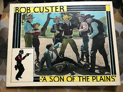 A Son Of The Plains 1931Trem Carr Pictures western lobby card Bob Custer