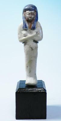 Egyptian Tricolor Faience Shabti  - Ancient Art & Antiquities