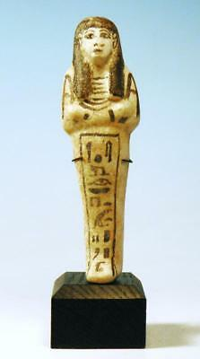 Egyptian White Faience Shabti of Mut Pepu  - Ancient Art & Antiquities