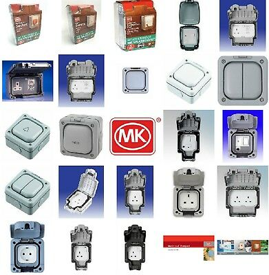 MK Masterseal Splashguard Shield Weatherproof Dust Proof RCD Socket Switches 13A