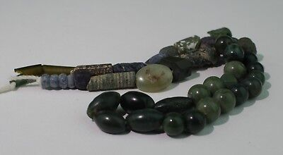 Ancient Roman Green Glass Bead Necklace - Circa 2Nd Century Ad - No Reserve! 22