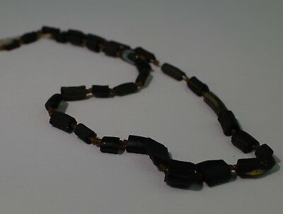 Ancient Roman Dark Blue Glass Bead Necklace Circa 2Nd Century Ad - No Reserve 01