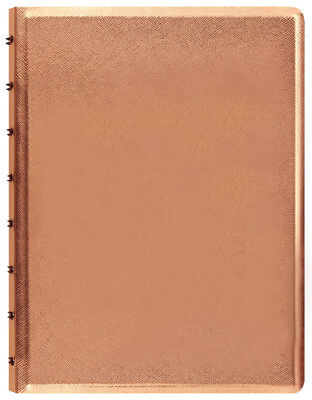 "Filofax Saffiano Notebook - Metallic Rose Gold - A5  (8.25"" x 5.75"") 115058 New"