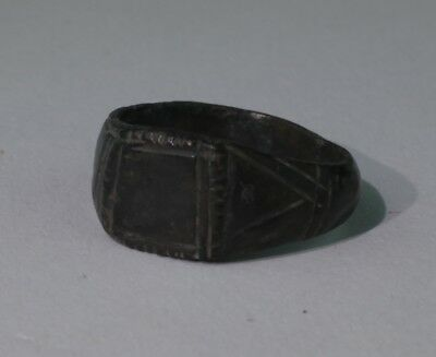 Quality Ancient Medieval Bronze Ring  - Circa 14Th C Ad  - No Reserve!!