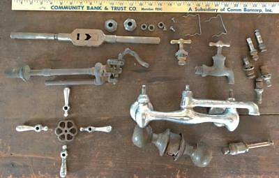 Vintage lot Steampunk Brass Valves Handles Door Knob Hardware Architectural