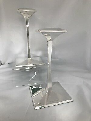 Stunning Large Silver Modernist Candlesticks 2000 CARRS