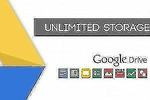 UNLIMITED STORAGE GOOGLE DRIVE ACCOUNT Isnt .EDU