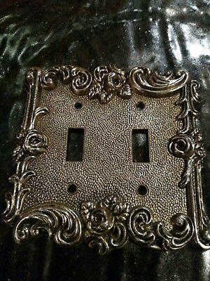Vintage 1967 American Tack & Hardware Double Switch Plate Cover #60TT Floral