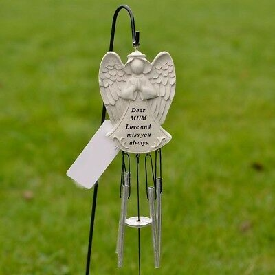 Dear Mum Guardian Angel Love And Miss You Memorial Graveside Metal Wind Chime