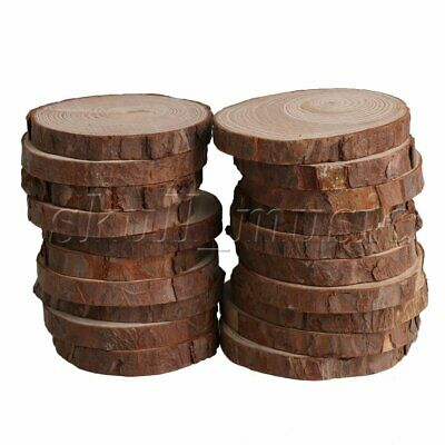 20PCS Natural Pine Wood Slices Circles with Tree Bark 7-8CM Dia 1CM High