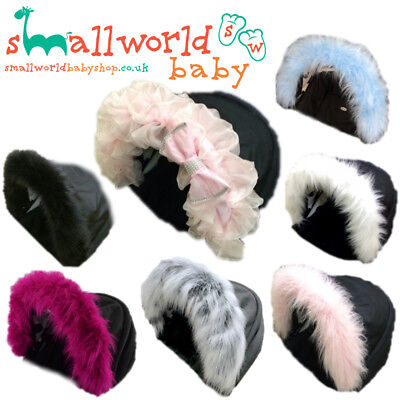 Pram Hood Trim Pushchair Buggy Universal Custom  Faux Fur Accessory Girls Boys