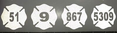 "Firefighter Fire Dept Maltese Cross Helmet Decal Sticker 2"" REFLECTIVE CUSTOM"