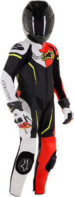 Alpinestars Suit Black Red White Yellow Euro Size 150