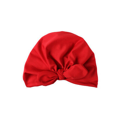Baby Turban Cap Cute Soft Rabbit Ears Infant Toddler Bowknot Child Care