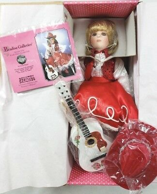 """Treasury Collection Paradise Galleries """"Ruby"""" 14"""" Musical Porcelain Doll NEW"""