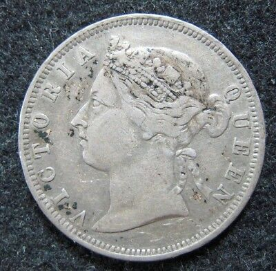 1892 Hong Kong 20 Cents Silver Strong Condition KM 7