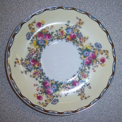 Meito China floral saucer pink roses yellow and blue flowers Vintage  Japan