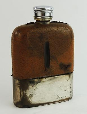 Antique SILVER PLATED HIP FLASK c1920's
