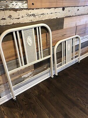 Antique twin metal bedsets
