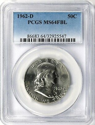 1962-D Franklin Half Dollar 50c PCGS MS64 FBL