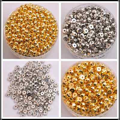 50/100Pcs faceted charm spacer loose beads DIY jewelry 7x4MM