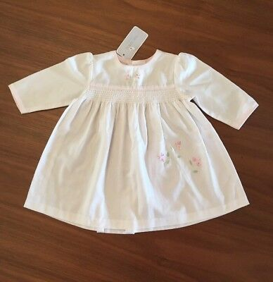 BNWT. Halo Baby Designer 00 White Long Sleeve Dress.