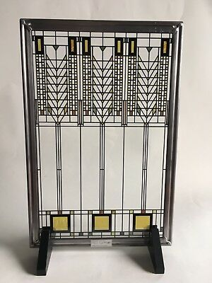 """Frank Lloyd Wright """"Tree of Life""""  Stained Glass Window  by Glassmasters Hanging"""