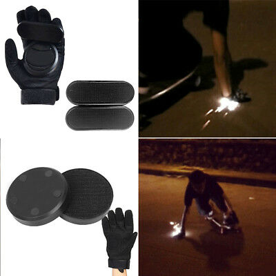1 Pair Slider Block Brake Skateboard Abrasion-Resistant Slide Gloves Longboard