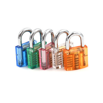 Locksmith Transparent Padlock Visible Cutaway Practice Padlock Lock Skill Pick X