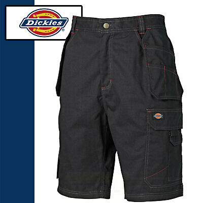 Dickies Work Shorts Mens Trade Redhawk PRO WD802 Black Cargo Hard Wearing Shorts