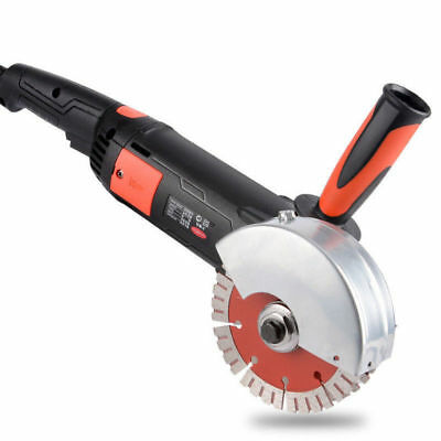 220V Double Saw Blades Wall Groove Concrete Cutter Cutting Machine 1800W 6000RPM