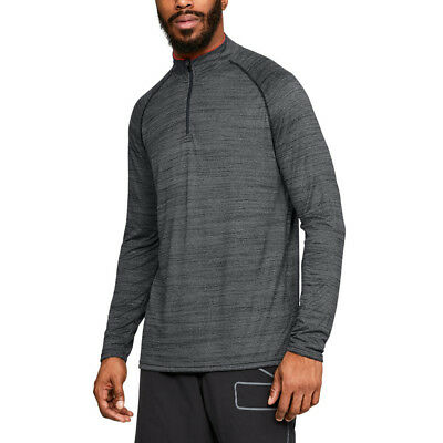 Under Armour Mens Tech 1/4 Zip Top Grey Sports Gym Breathable Lightweight