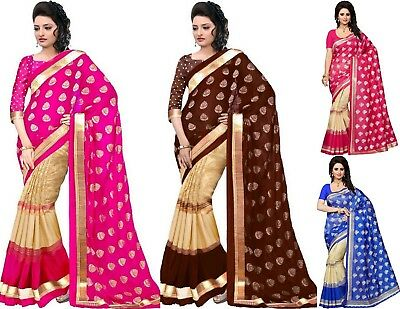 Indian Bollywood Pakistani Designer FANCY Wedding Traditional saree sari New SS