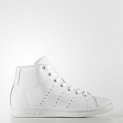 SCARPE Adidas Originals STAN SMITH MID ALTE BZ0098 BIANCO TOTAL WHITE UNISEX 09c65dfe1cf