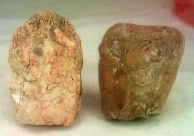2 personal figurines from the Paleolithic Stone Age. Found together, characters