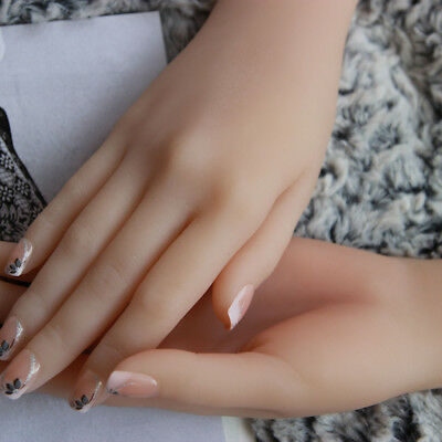 female Silicone Hand Model hand Mannequins Display a pair A397
