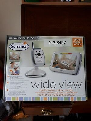 Summer Wide View Digital Video Infant Baby Monitor
