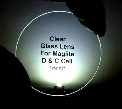 Mineral Glass Lens for Maglite D & C Cell and Rechargeable Mag Charger Torches