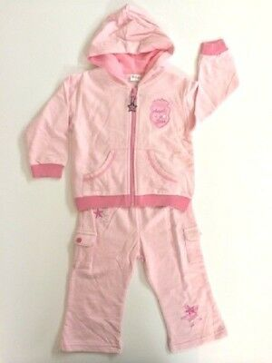 Toddler Girls Pink Tracksuit with Angel Star patch Size 24 months 2 years New