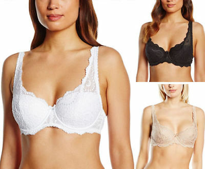 Playtex P02Bf Flower Lace Underwired Lightly Padded Bra Skin Nude Rrp £30.00