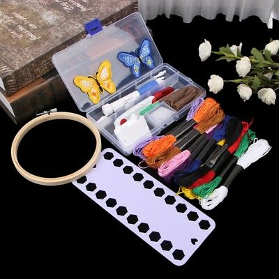 Magic DIY Embroidery Pen Knitting Sewing Tool Kit Punch Needle Set+ Threads
