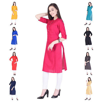 Stylish Women Ethnic Indian Bollywood Designer Cotton Tunic Women's Kurti Kurta