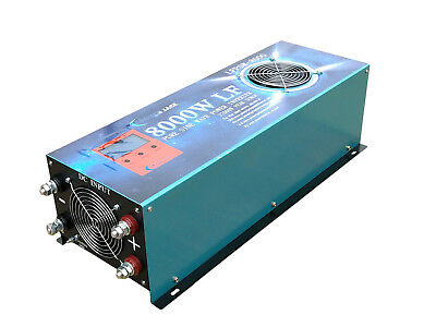 8000W LF Pure Sine Wave 12V DC/240VAC 50Hz Power Inverter LCD/UPS/ATS/Charger