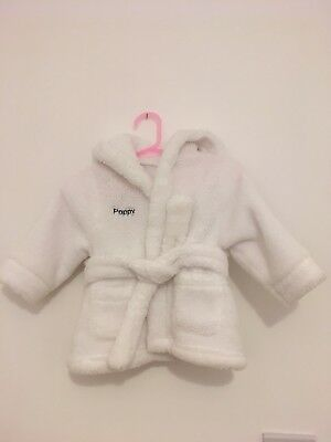 Baby Dressing Gown Personalised POPPY