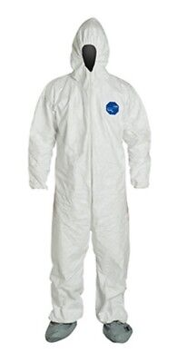 Tyvek Disposable Coverall Zippered Suit with Hood - Size: XXL Sold by Case of 25