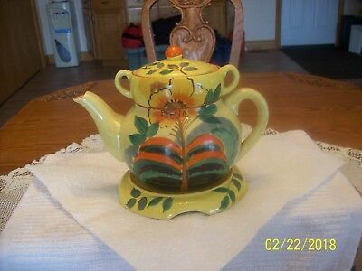 Stackable VintageTeapot Marked Made In Japan Hand Painted 4 Piece