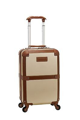 """Stage Coach 20"""" Rolling Trunk Carry On Luggage ABS - Champagne"""