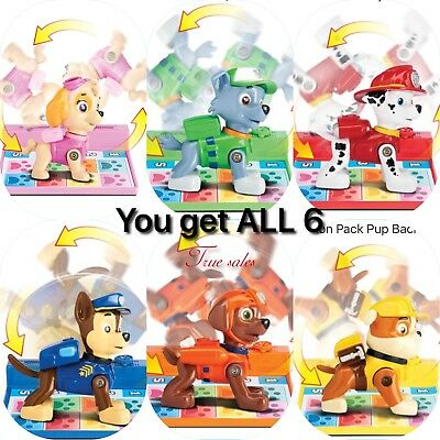 nickelodeon paw patrol chase marshall skye rubble rocky zuma action pack pup set. Black Bedroom Furniture Sets. Home Design Ideas