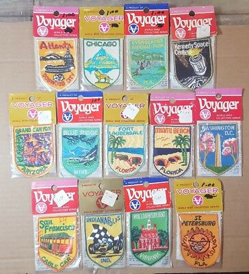 Vintage Voyager USA Patches USA Destinations Lot of 13